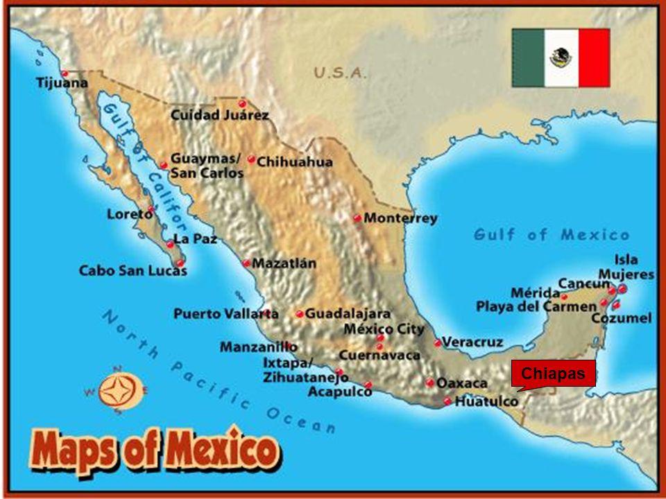Guatemala Lage von Chiapas Selva Lacandona