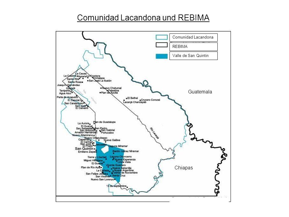 REBIMA und Totalreservate Totalreservate: 1.Sistema Lagunario Ocotal 2.