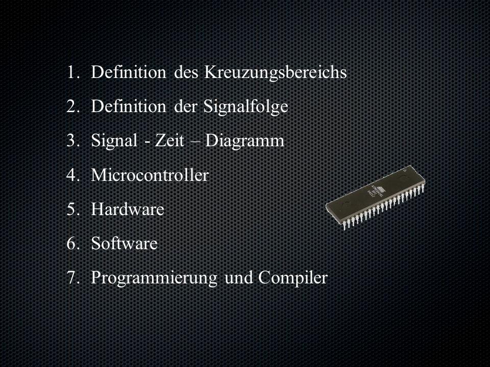 1.1.Definition des Kreuzungsbereichs 2. 2.Definition der Signalfolge 3.