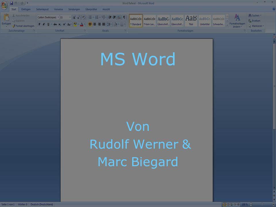 MS Word Von Rudolf Werner & Marc Biegard