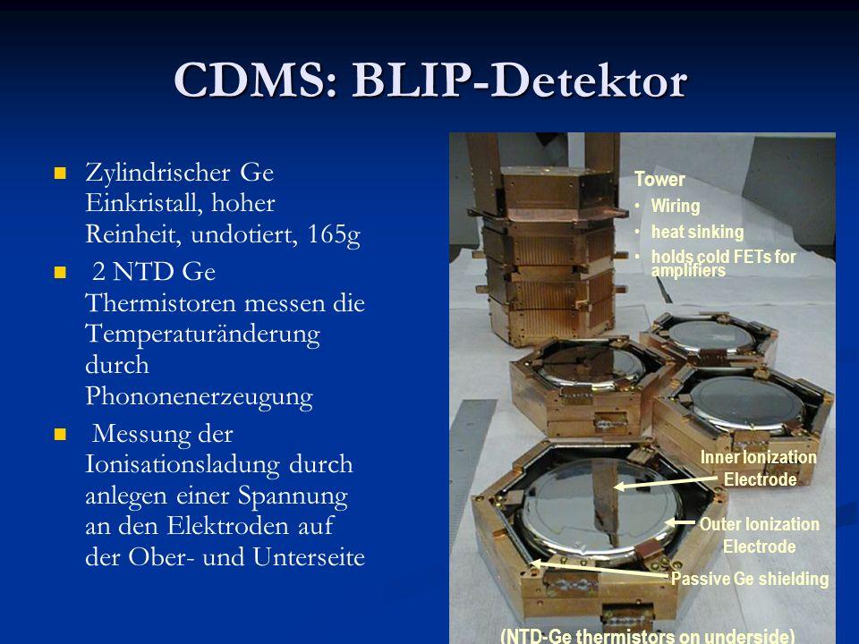 24 CDMS: BLIP-Detektor Zylindrischer Ge Einkristall, hoher Reinheit, undotiert, 165g 2 NTD Ge Thermistoren messen die Temperaturänderung durch Phonone