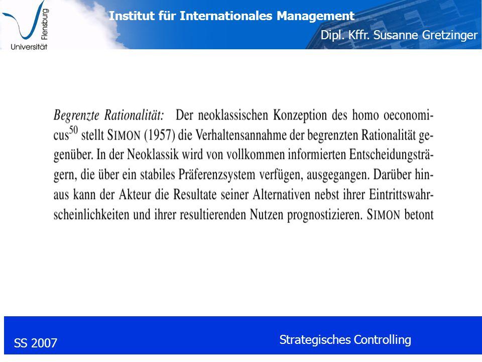 Institut für Internationales Management Dipl.Kffr.