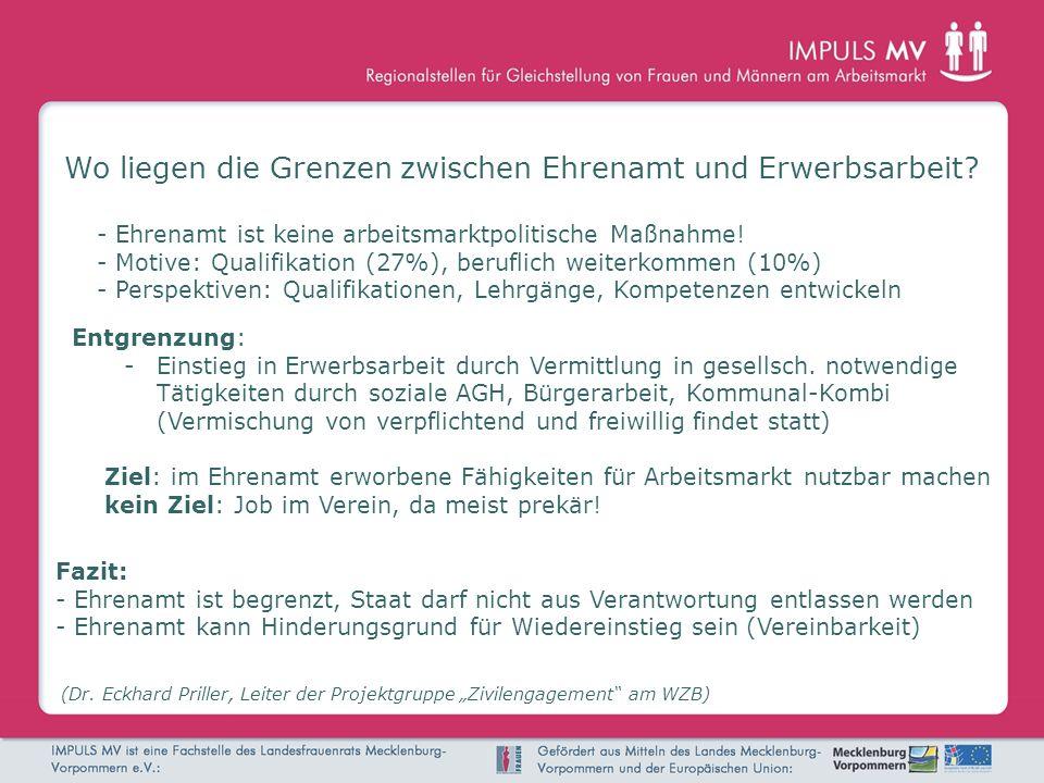 Wo liegen die Grenzen zwischen Ehrenamt und Erwerbsarbeit? (Dr. Eckhard Priller, Leiter der Projektgruppe Zivilengagement am WZB) Entgrenzung: -Einsti