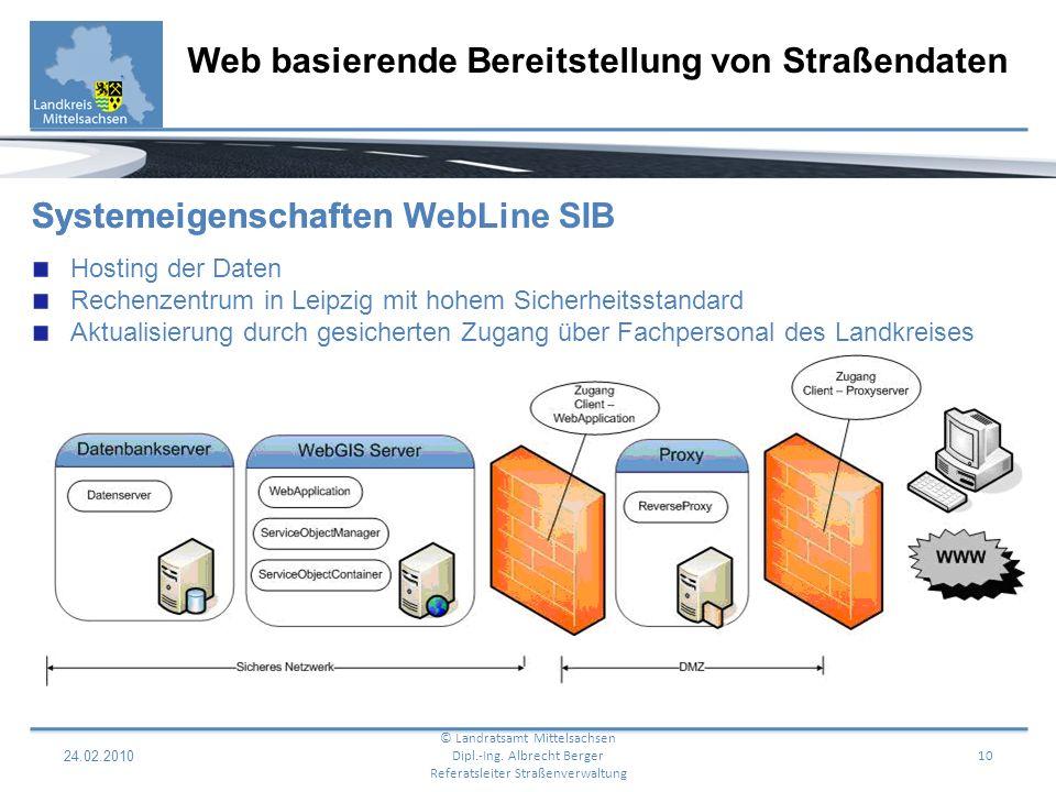 24.02.2010 11 Web basierende Bereitstellung von Straßendaten © Landratsamt Mittelsachsen Dipl.-Ing.
