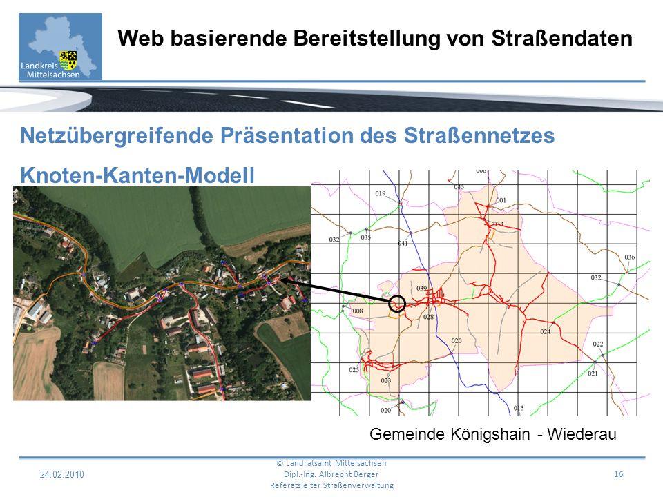 24.02.2010 17 Web basierende Bereitstellung von Straßendaten © Landratsamt Mittelsachsen Dipl.-Ing.