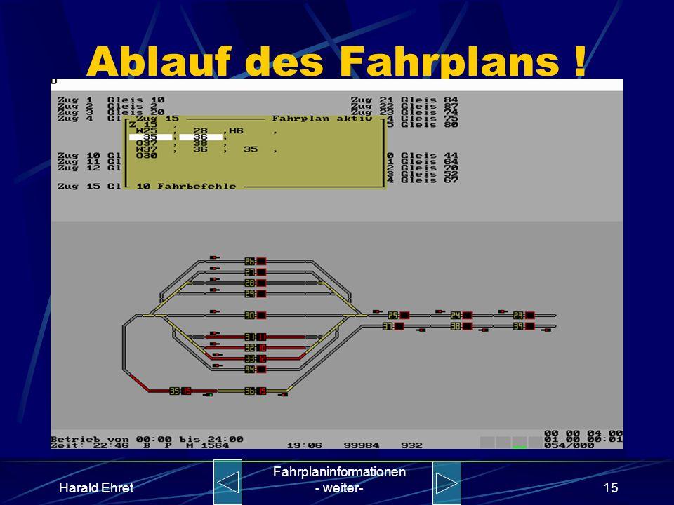 Harald Ehret Fahrplaninformationen - weiter-14 Ablauf des Fahrplans !