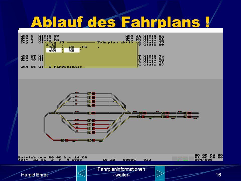 Harald Ehret Fahrplaninformationen - weiter-15 Ablauf des Fahrplans !