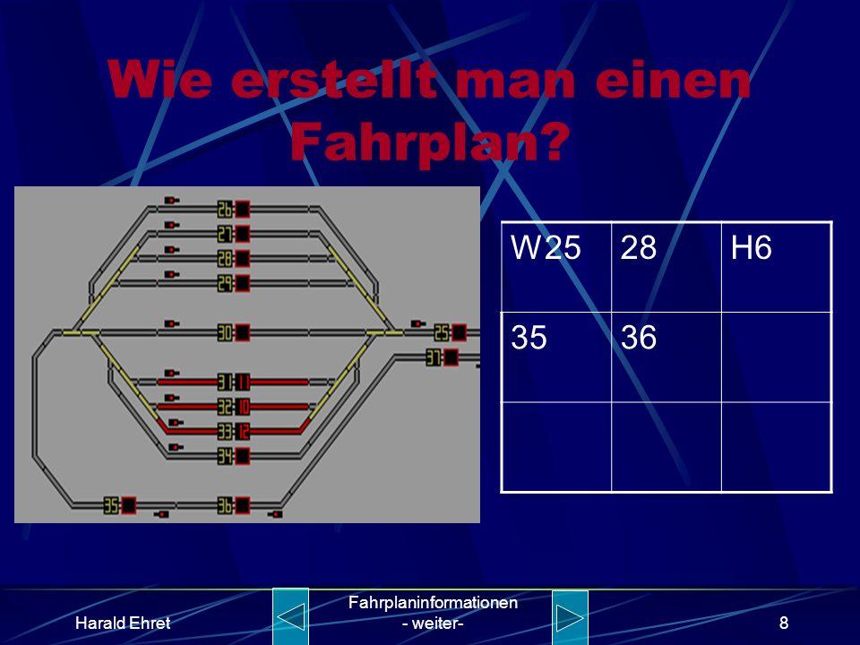 Harald Ehret Fahrplaninformationen - weiter-7 Wie erstellt man einen Fahrplan? W2528H6 35