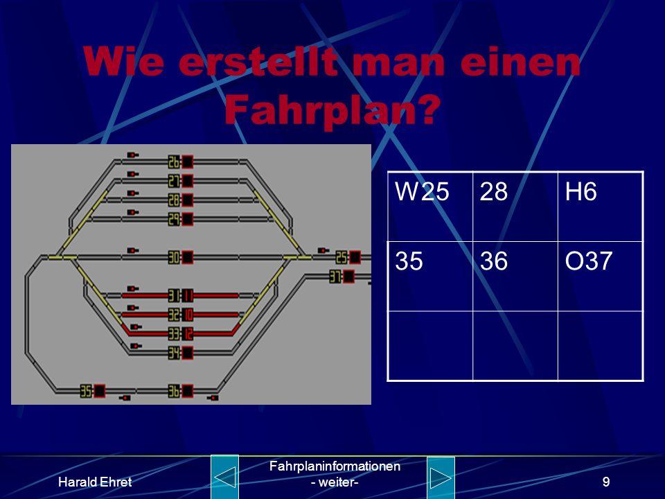 Harald Ehret Fahrplaninformationen - weiter-8 Wie erstellt man einen Fahrplan? W2528H6 3536