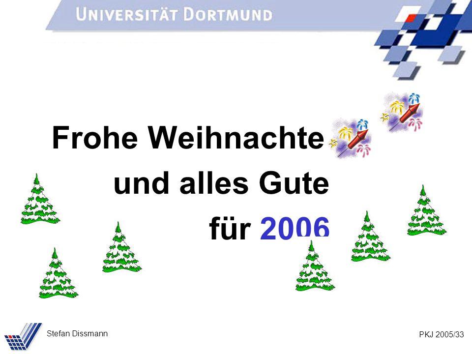 PKJ 2005/33 Stefan Dissmann Frohe Weihnachten und alles Gute für 2006