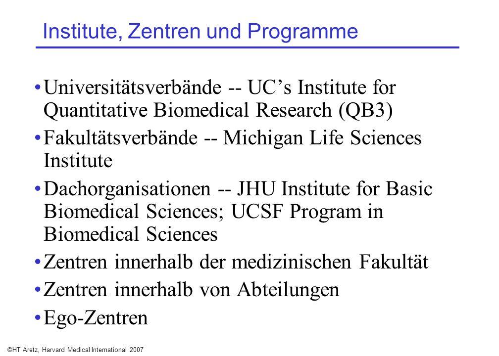 ©HT Aretz, Harvard Medical International 2007 Institute, Zentren und Programme Universitätsverbände -- UCs Institute for Quantitative Biomedical Resea