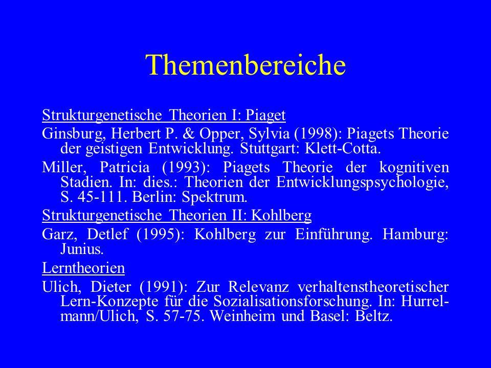 Themenbereiche Funktionalismus und Systemtheorie Schulze, Hans-Joachim/Künzler, Jan (1991): Funktionalisti- sche und systemtheoretische Ansätze in der Sozialisations- forschung.