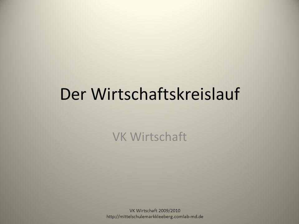 Der Wirtschaftskreislauf VK Wirtschaft VK Wirtschaft 2009/2010 http://mittelschulemarkkleeberg.comlab-md.de