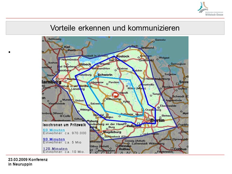 Vorteile erkennen und kommunizieren 23.03.2009 Konferenz in Neuruppin