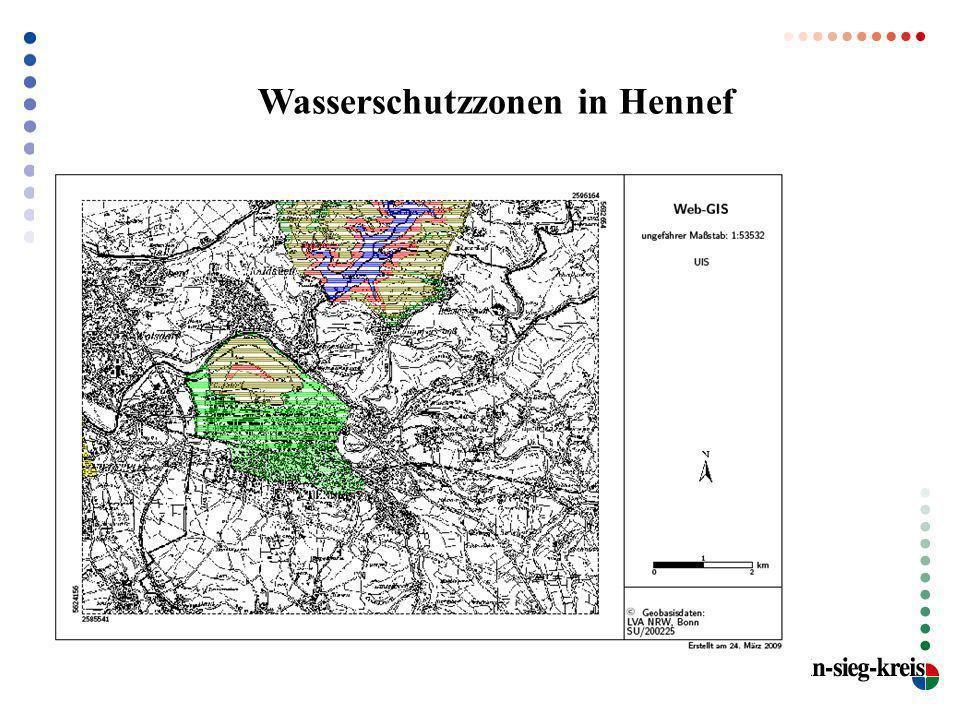 Wasserschutzzonen in Hennef