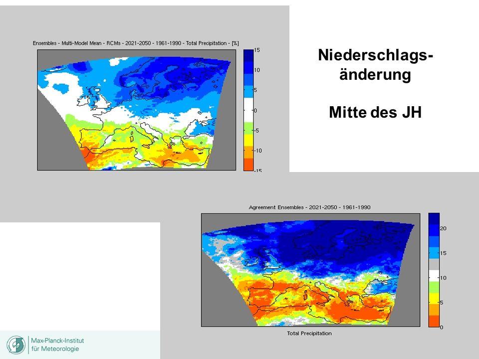 Niederschlags- änderung Mitte des JH