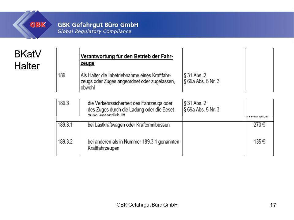 BKatV Halter GBK Gefahrgut Büro GmbH 17