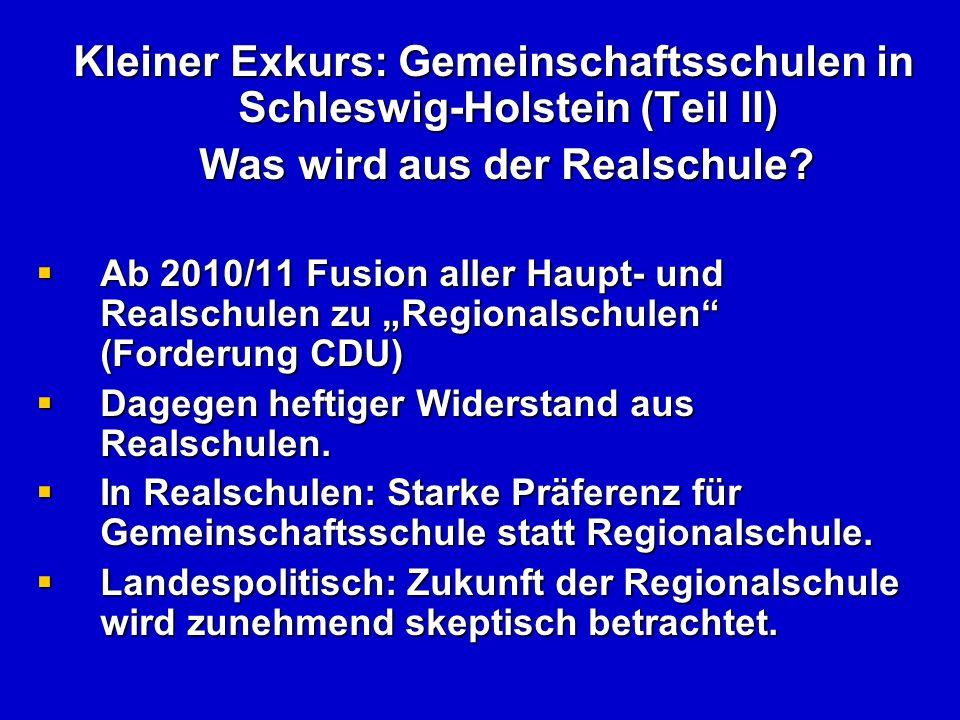 Zum Schluss: Überlegungen zur Schulreform in Niedersachsen Eine Abschaffung des Gymnasiums ist unrealistisch.