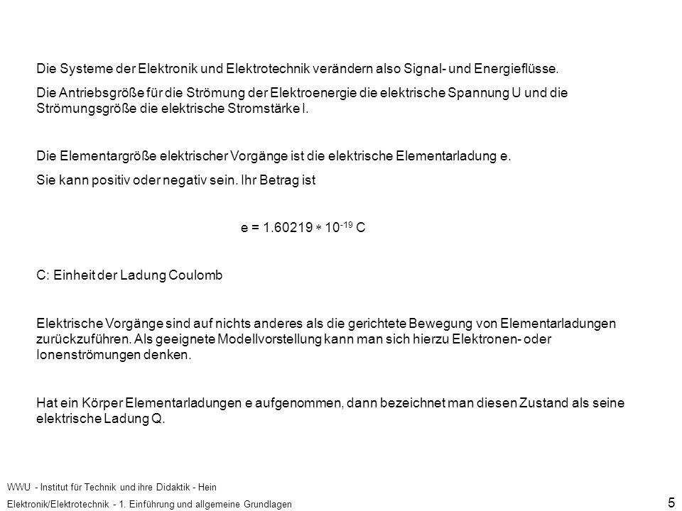 WWU - Institut für Technik und ihre Didaktik - Hein Elektronik/Elektrotechnik - 1.