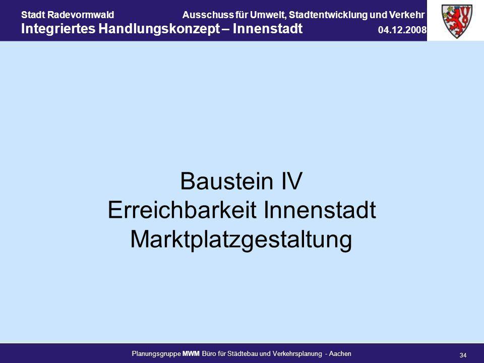 Planungsgruppe MWM Büro für Städtebau und Verkehrsplanung - Aachen 34 Stadt RadevormwaldAusschuss für Umwelt, Stadtentwicklung und Verkehr Integrierte