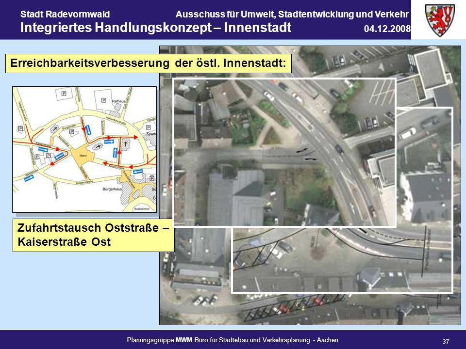 Planungsgruppe MWM Büro für Städtebau und Verkehrsplanung - Aachen 37 Stadt RadevormwaldAusschuss für Umwelt, Stadtentwicklung und Verkehr Integrierte