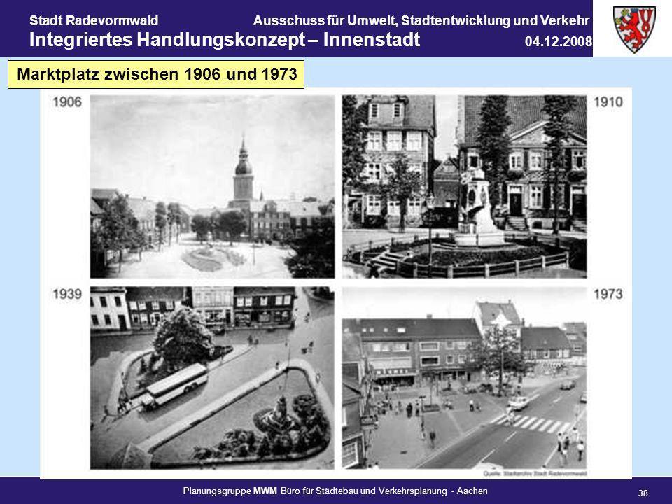 Planungsgruppe MWM Büro für Städtebau und Verkehrsplanung - Aachen 38 Stadt RadevormwaldAusschuss für Umwelt, Stadtentwicklung und Verkehr Integrierte