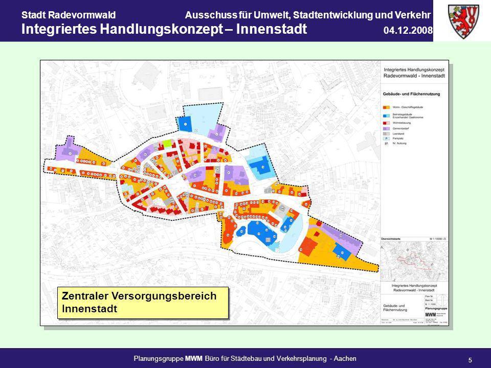 Planungsgruppe MWM Büro für Städtebau und Verkehrsplanung - Aachen 5 Stadt RadevormwaldAusschuss für Umwelt, Stadtentwicklung und Verkehr Integriertes