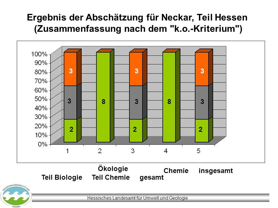 Hessisches Landesamt für Umwelt und Geologie Ergebnis der Abschätzung für Neckar, Teil Hessen (Zusammenfassung nach dem
