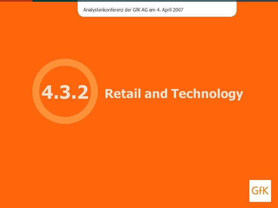 Analystenkonferenz der GfK AG am 4. April 2007 Retail and Technology 4.3.2