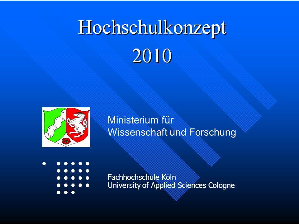 Logo Fachhochschule Köln University of Applied Sciences Cologne Ministerium für Wissenschaft und Forschung