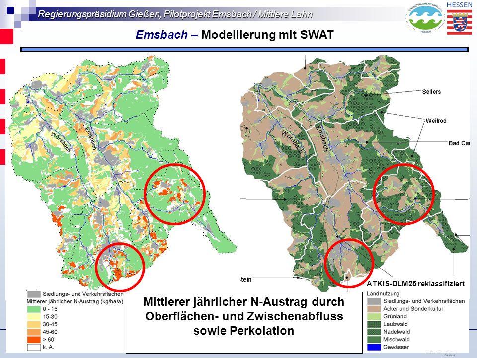 Regierungspräsidium Gießen, Pilotprojekt Emsbach / Mittlere Lahn Wasserforum 2006 – Auf dem Weg … 14.11.06 Wald alle B.