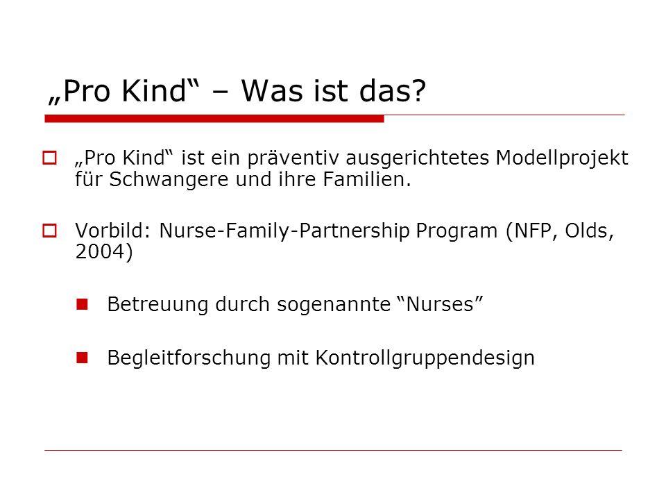 Pro Kind – Was ist das? Pro Kind ist ein präventiv ausgerichtetes Modellprojekt für Schwangere und ihre Familien. Vorbild: Nurse-Family-Partnership Pr