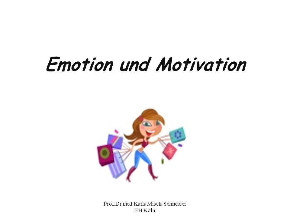 Prof.Dr.med.Karla Misek-Schneider FH Köln Emotionstheorien Diese versuchen physiologische und psychische Aspekte des Erlebens von Emotionen zu erklären.