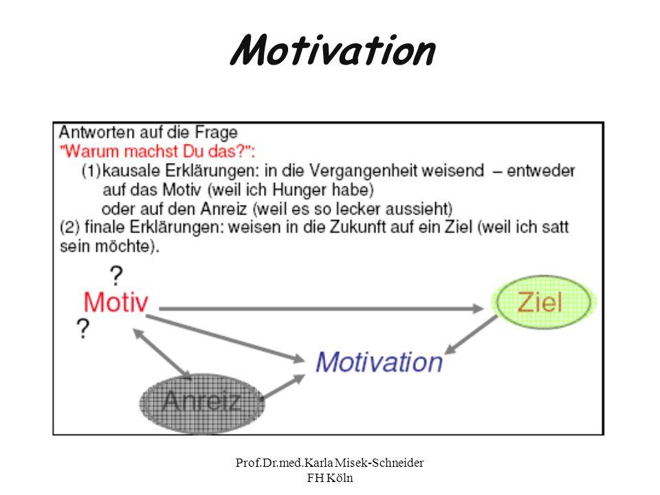 Prof.Dr.med.Karla Misek-Schneider FH Köln Motivation