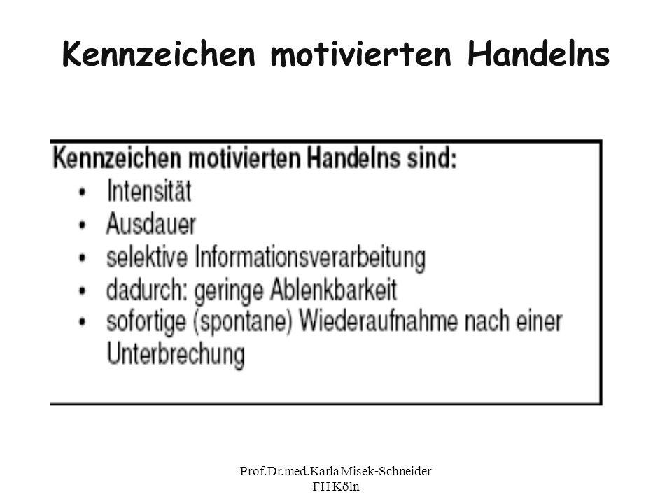 Prof.Dr.med.Karla Misek-Schneider FH Köln Kennzeichen motivierten Handelns