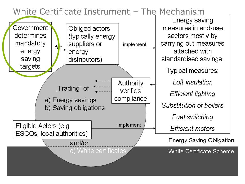 White Certificate Instruments – The Mechanism