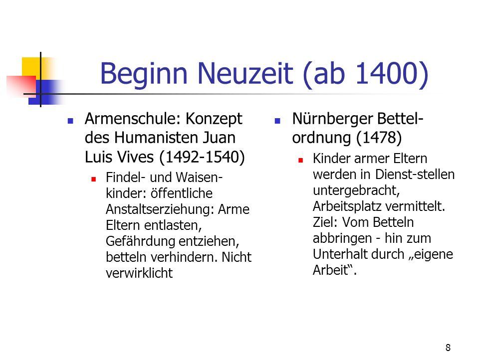 9 Waisen- und Zuchthäuser: Absolutismus + Aufklärung A.