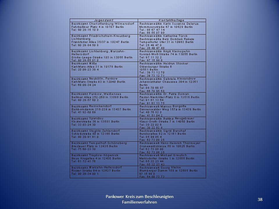Pankower Kreis zum Beschleunigten Familienverfahren 38