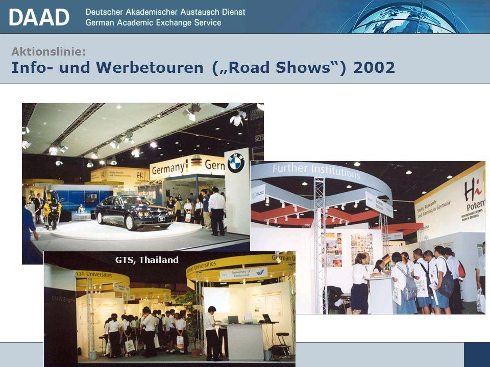 Aktionslinie: Info- und Werbetouren (Road Shows) 2002 GTS, Thailand