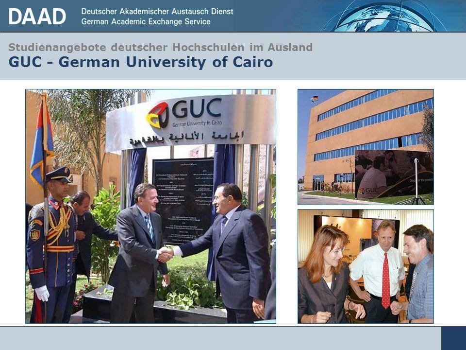 Studienangebote deutscher Hochschulen im Ausland GUC - German University of Cairo