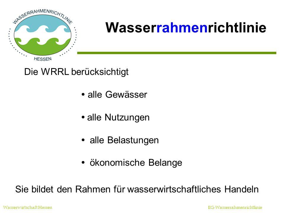 Zeitplanung Wasserwirtschaft Hessen EG-Wasserrahmenrichtlinie Bestandsaufnahme Hessen (Entwurf)Mai 2004 Offenlegung/ Fertigstellung HessenSept.