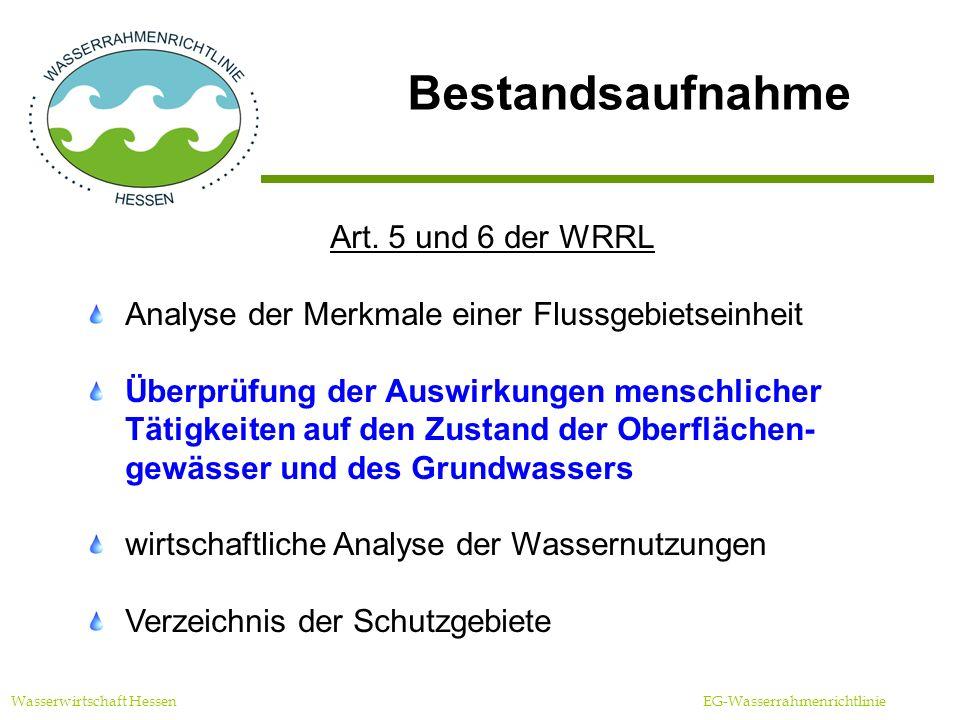 Offenlegung Zeitraum und Ort der Einsichtnahme Wasserwirtschaft Hessen EG-Wasserrahmenrichtlinie Die Ergebnisse der Bestandsaufnahme sind einsehbar vom 1.