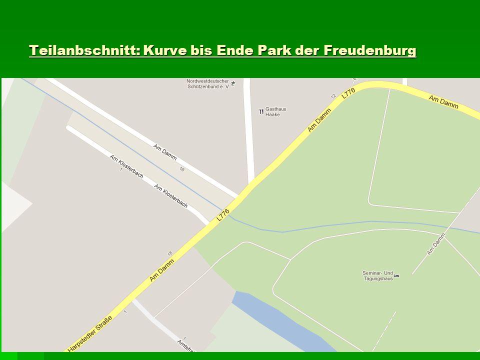 Teilanbschnitt: Kurve bis Ende Park der Freudenburg