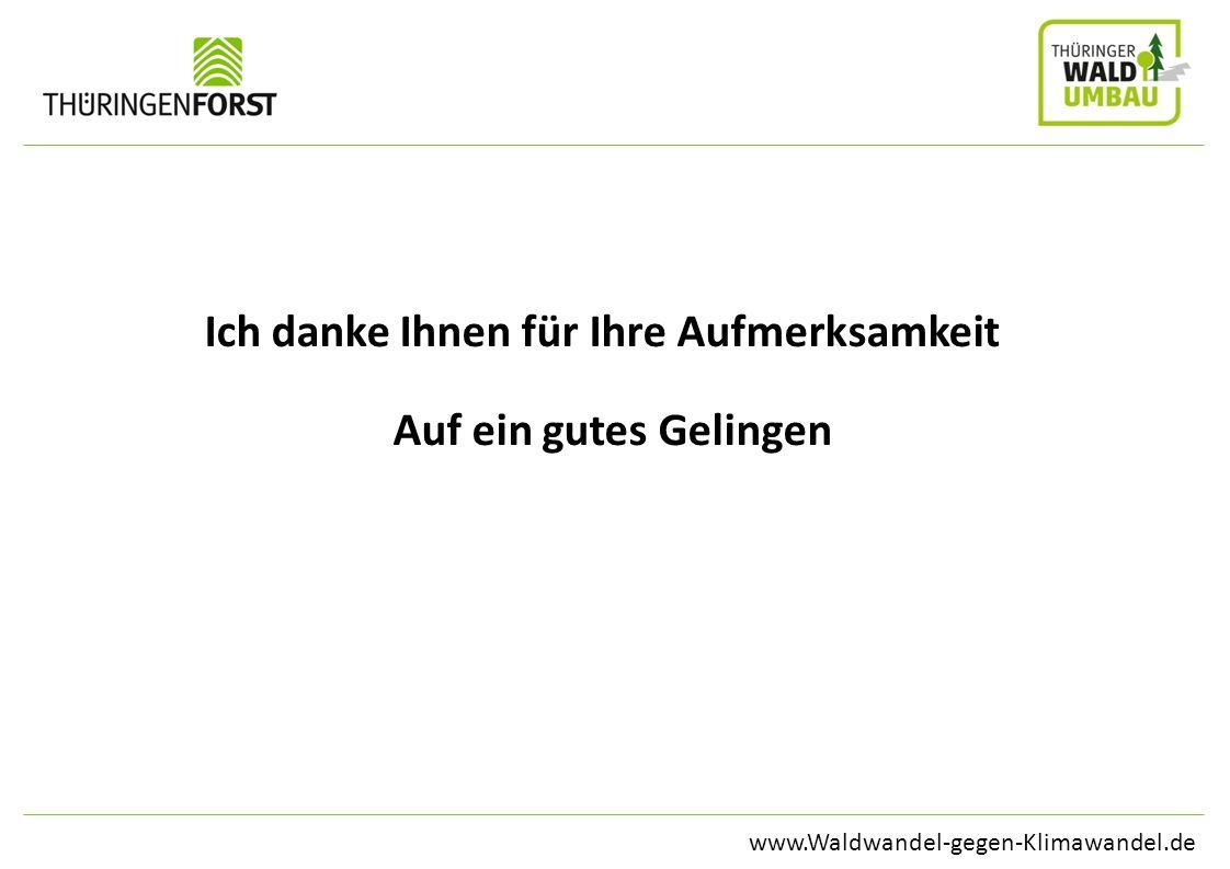 www.Waldwandel-gegen-Klimawandel.de Ich danke Ihnen für Ihre Aufmerksamkeit Auf ein gutes Gelingen