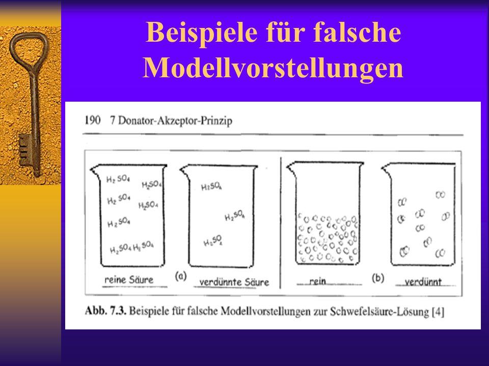 Beispiele für falsche Modellvorstellungen