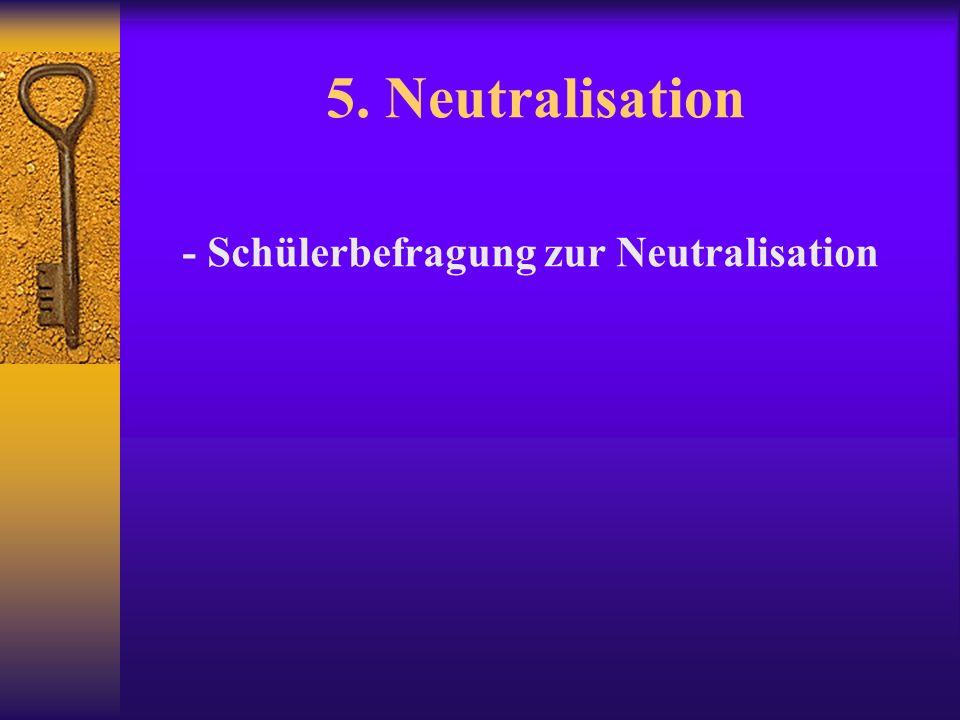 5. Neutralisation - Schülerbefragung zur Neutralisation