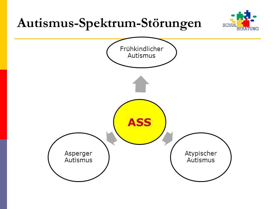 Autismus-Spektrum-Störungen ASS Frühkindlicher Autismus Atypischer Autismus Asperger Autismus