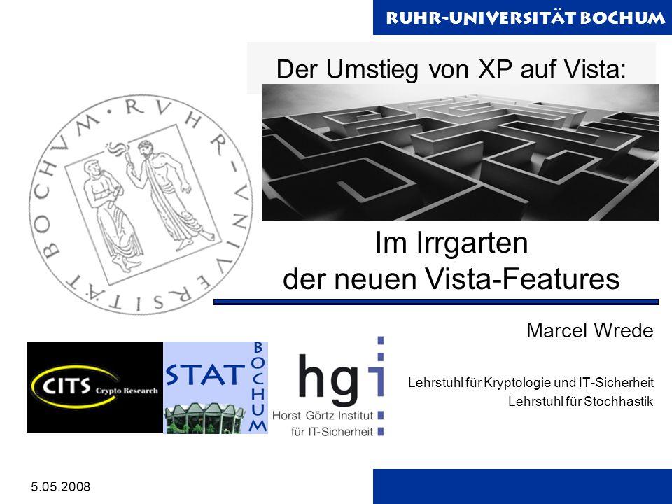 Ruhr-Universität Bochum 2 Übersicht Der Umstieg Windows-EasyTransfer Vista-Features Organisation Benutzeroberfläche Hilfreiche Tools System -Tools Der Umstieg - Windows-EasyTransfer Features - Organisation - Benutzeroberfläche - Hilfreiche Tools - Systemtools