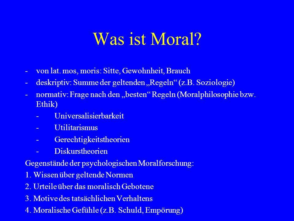 Was ist Moral.-von lat.