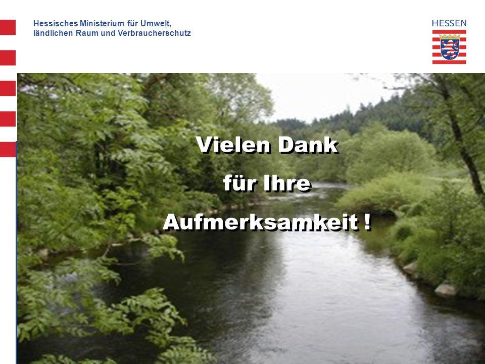 Hessisches Ministerium für Umwelt, ländlichen Raum und Verbraucherschutz 24 Vielen Dank für Ihre Aufmerksamkeit .